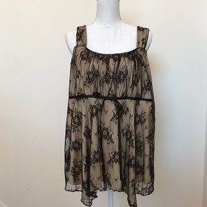 Lane Bryant Lace nude/black sz 14 Tank Top Dressy
